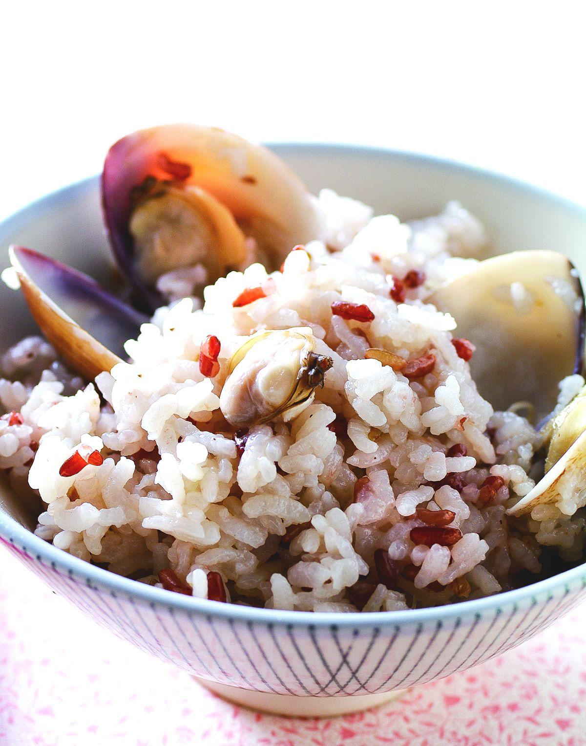 食譜:薑絲蛤蜊飯