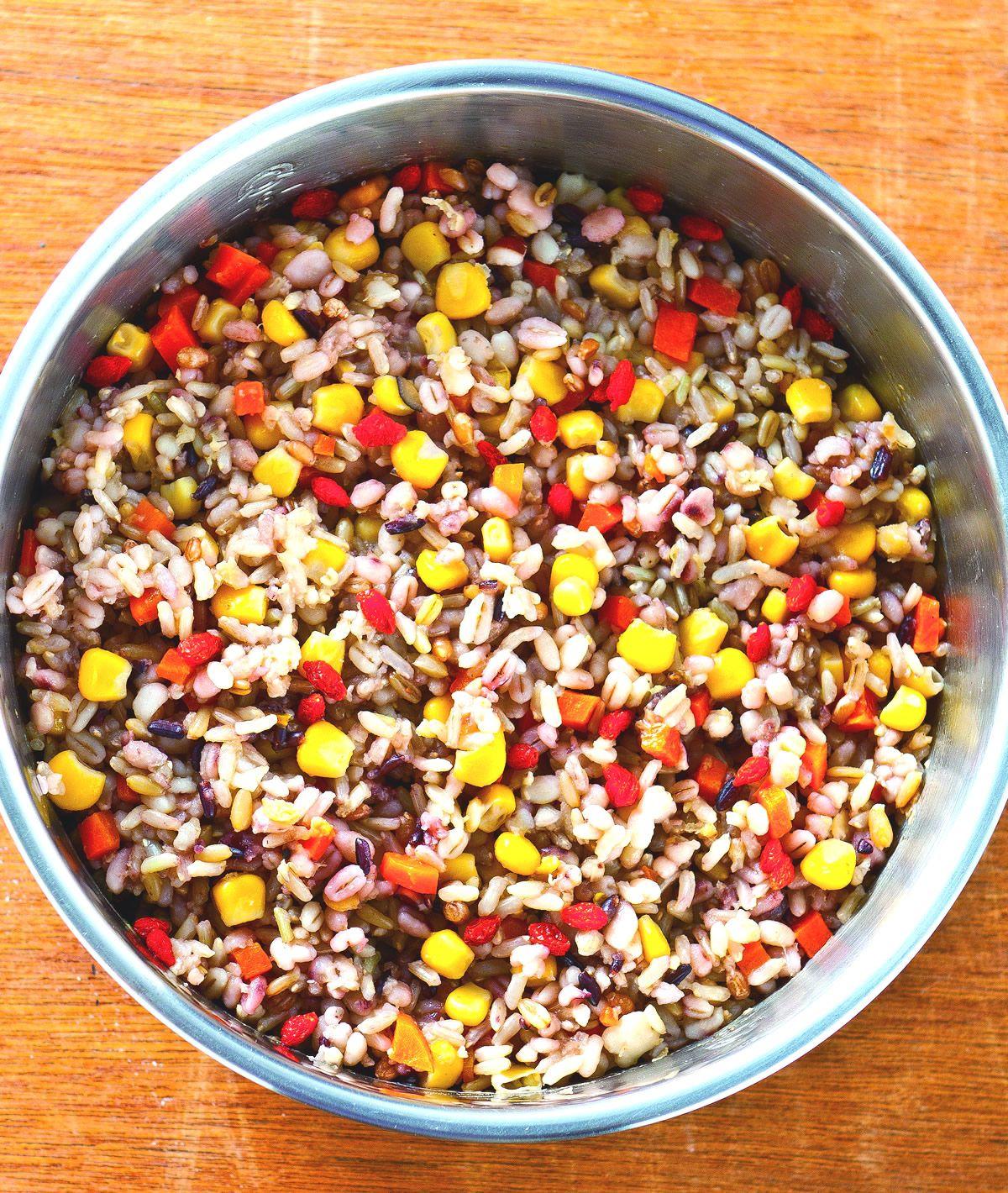 食譜:五穀雜糧枸杞飯