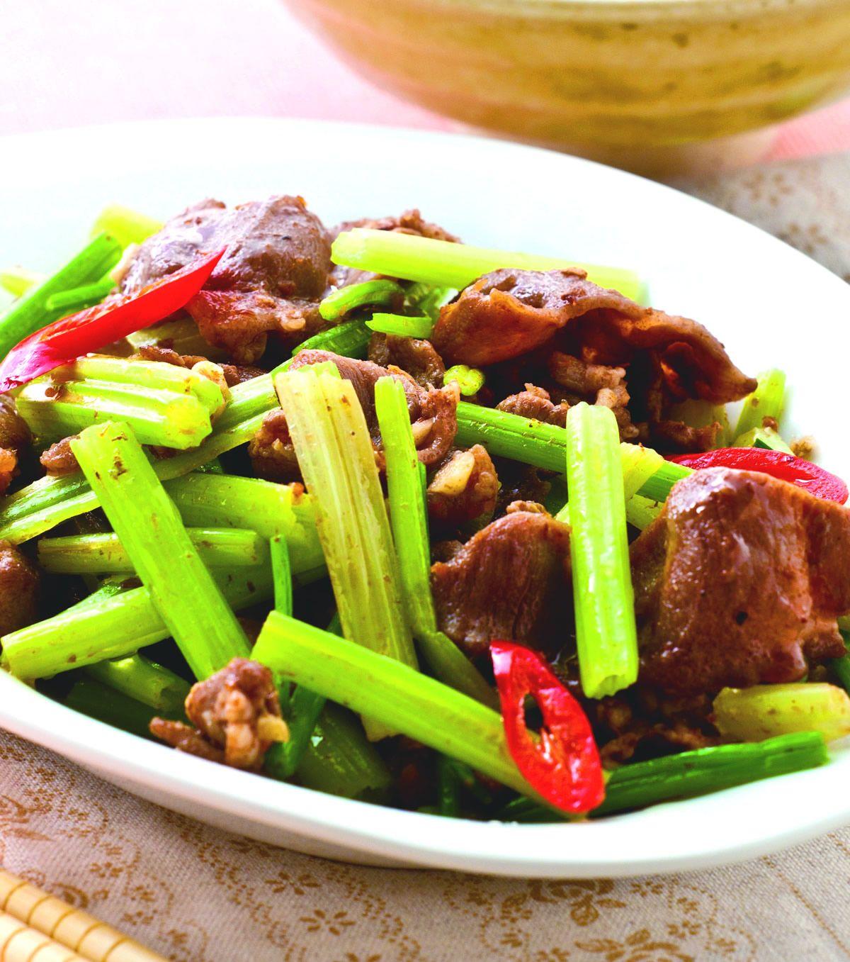 食譜:沙茶芹菜炒羊肉