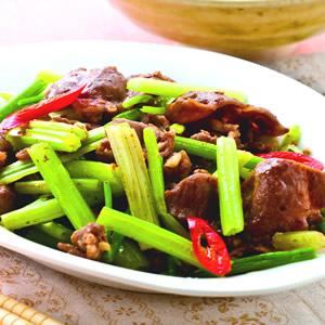 沙茶芹菜炒羊肉