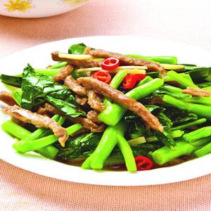麻油芥蘭炒牛肉