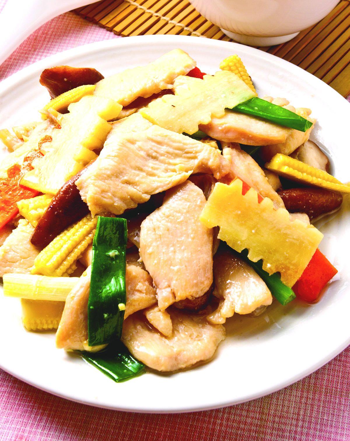 食譜:薑片炒雞肉