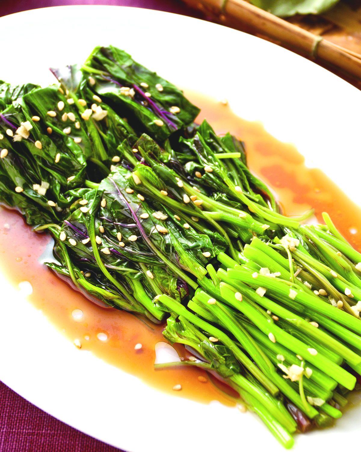食譜:芝麻拌紅莧菜