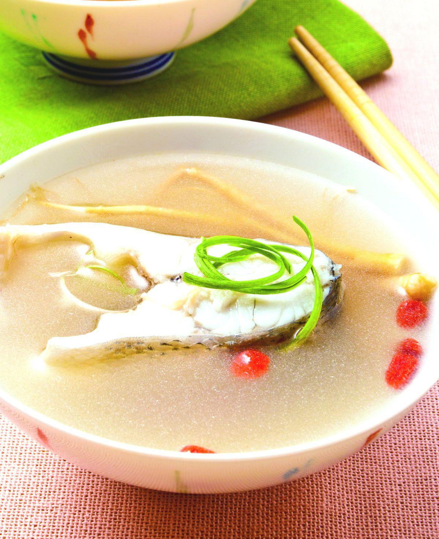 食譜:蔘鬚鱸魚湯
