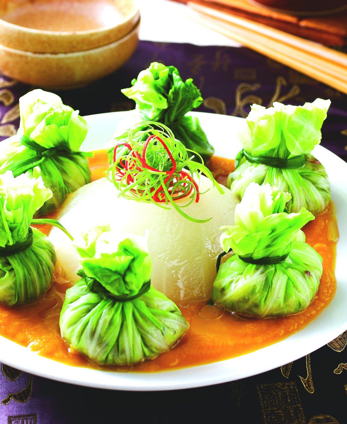 食譜:白玉南瓜鑲福袋