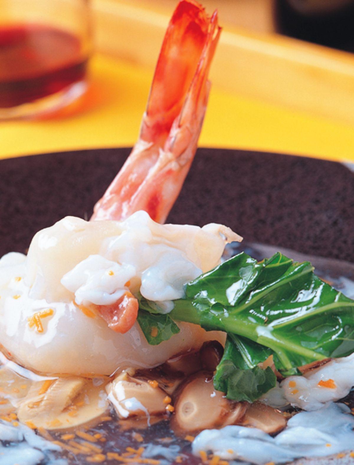 食譜:玉簪明蝦球