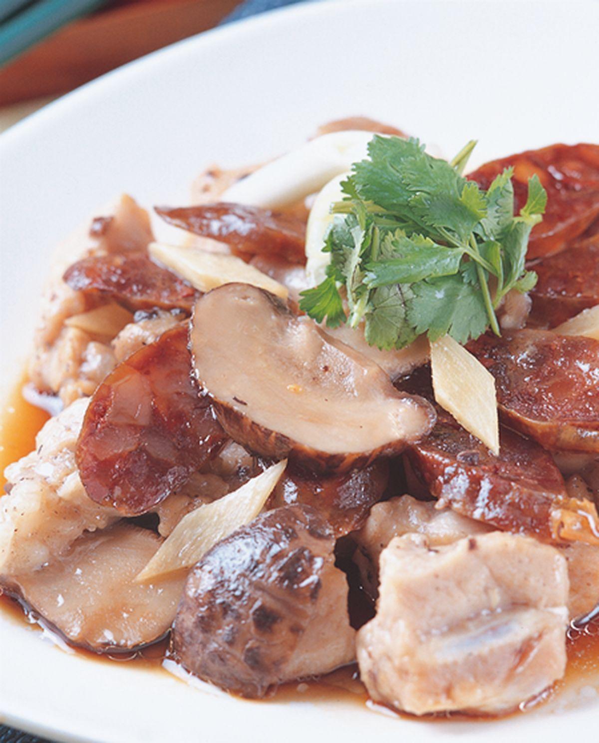 食譜:臘腸蒸肉排