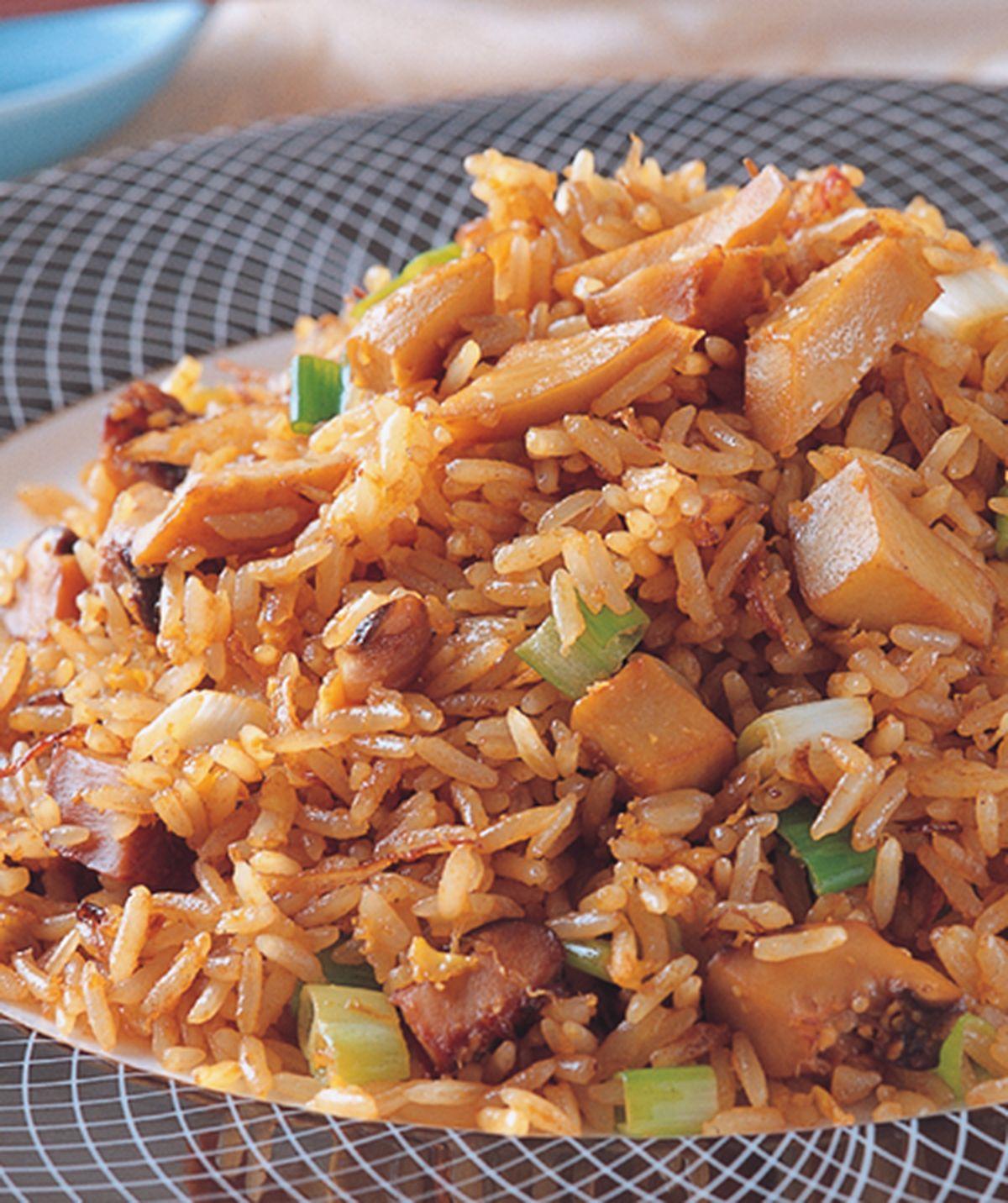 食譜:金蔥鮑魚粒炒飯
