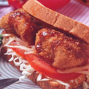 里肌豬排三明治