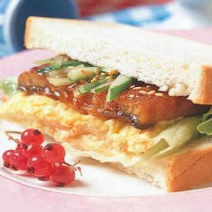 滑溜鰻魚三明治