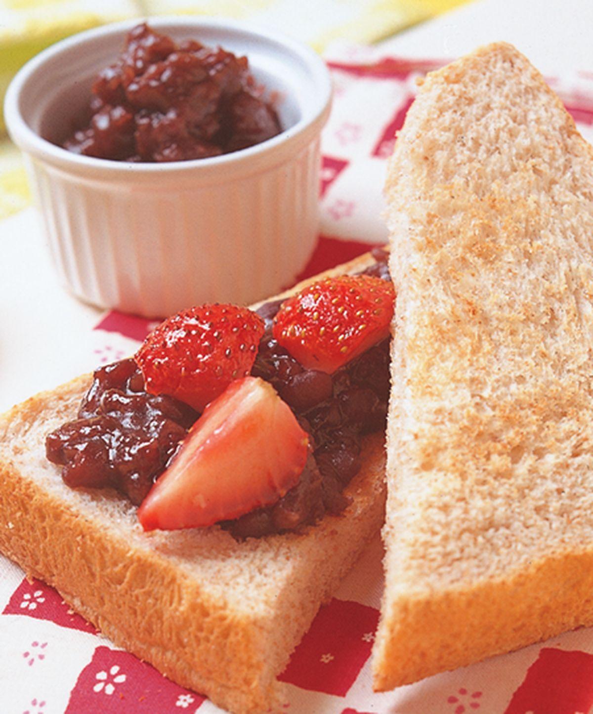 食譜:草莓紅豆三明治
