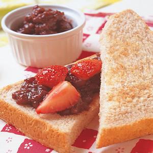 草莓紅豆三明治
