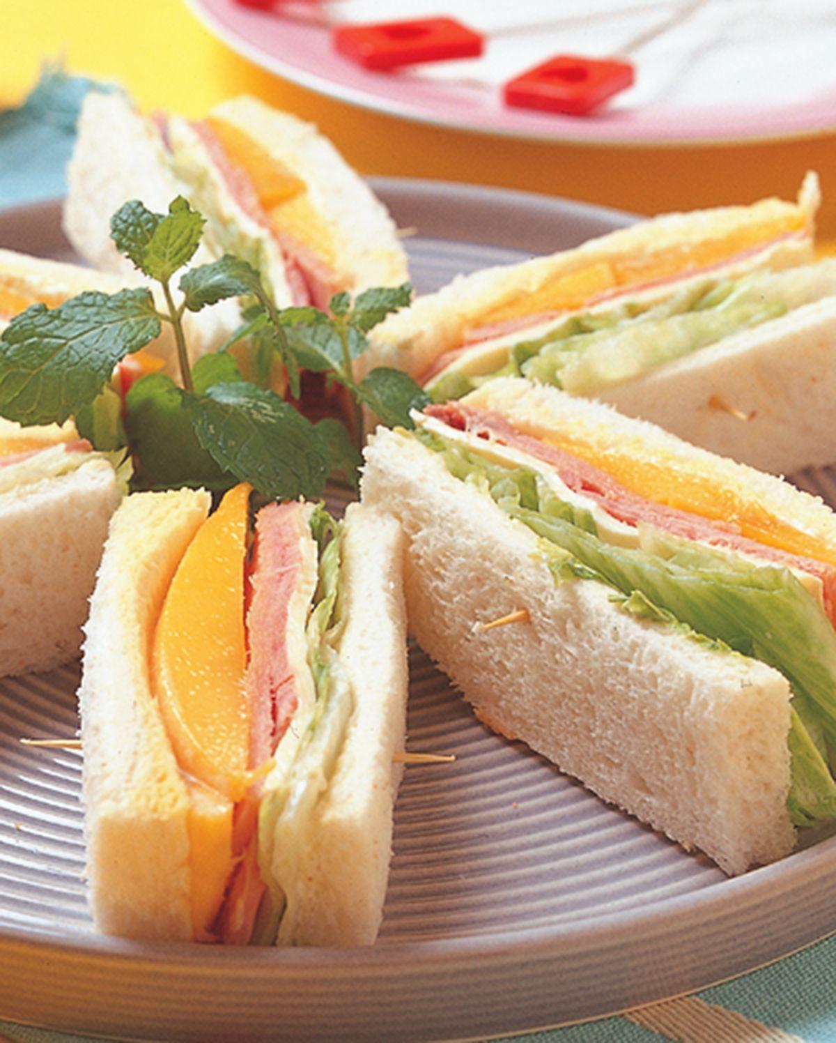 食譜:火腿芒果起司三明治