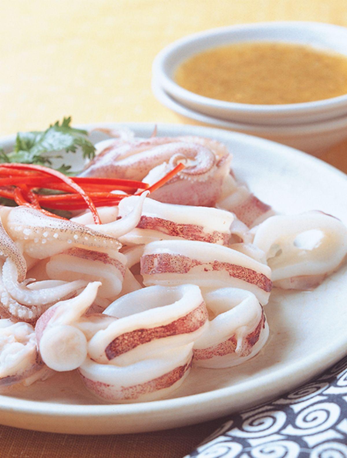 食譜:果泥白灼魷魚