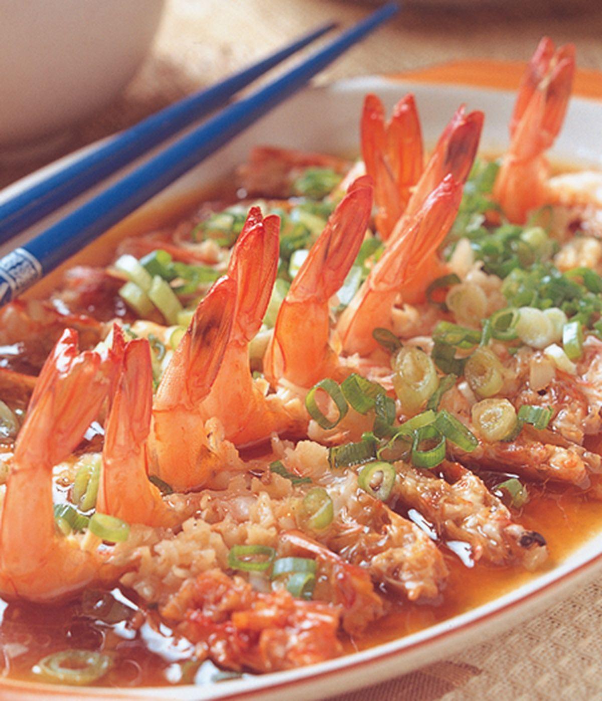 食譜:蒜蓉蒸蝦
