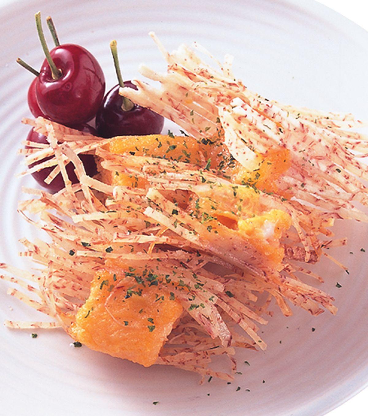 食譜:芋酥甜柿球