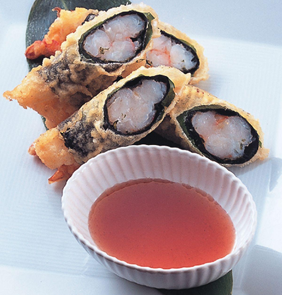 食譜:紫蘇百花捲